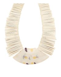 Weekend by Maxmara - White Stacked Stone Necklace - Lyst