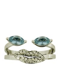 Delfina Delettrez - Blue Marquise Portrait Ring - Lyst