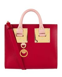 Sophie Hulme | Pink Small Two-tone Albion Box Tote | Lyst