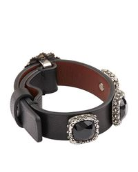 Alexander McQueen | Black Embellished Arm Cuff | Lyst