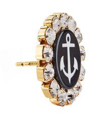 Dolce & Gabbana - Metallic Anchor Brooch Clip-on Earrings - Lyst
