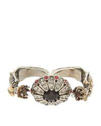 Alexander McQueen - Metallic Embellished Double Skeleton Ring - Lyst
