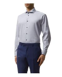 Eton of Sweden - Blue Contrast Piping Contemporary-fit Shirt for Men - Lyst