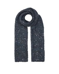 Brunello Cucinelli - Blue Chunky Sequin Embellished Mohair Scarf - Lyst