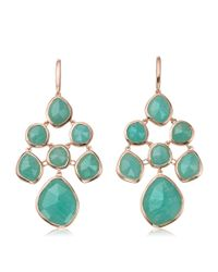 Monica Vinader - Metallic Siren Amazonite Chandelier Earrings - Lyst