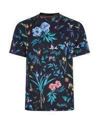 Paul Smith - Black Alpine Floral T-shirt for Men - Lyst