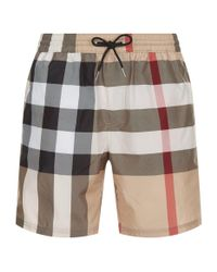 Burberry - Natural House Check Swim Shorts for Men - Lyst