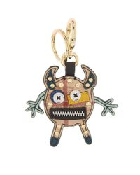 Burberry - Green Embellished Check Beast Keyring - Lyst