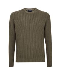 Armani Jeans Green Chunky Knit Sweater for men