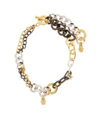 Versace - White Palladio Multi Chain Necklace, One Size - Lyst