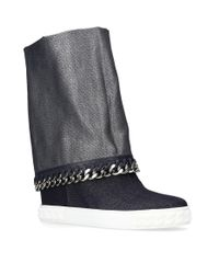 Casadei - Blue Chain Chaucer Boots 80 - Lyst