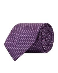 Corneliani - Purple Spotted Pattern Tie for Men - Lyst