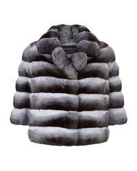 Harrods - Gray Dorothea Chinchilla Fur Jacket - Lyst
