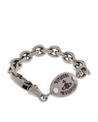 Vivienne Westwood - Black Frederic Logo Plaque Bracelet - Lyst