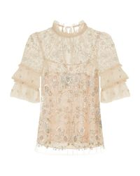 Needle & Thread | Constellation Embellished Top, Pink, Uk8 | Lyst