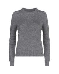 AllSaints | Gray Harley Crew Neck Sweater | Lyst