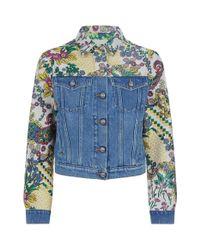 Etro - Blue Denim Jacket - Lyst