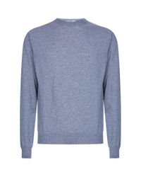 Canali Gray Cashmere Sweater for men