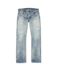Fabric-Brand & Co. - Blue Emmett Distressed Selvedge Jeans for Men - Lyst