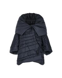 Crea Concept - Blue Navy Oversized Quilted Shell Jacket - Lyst