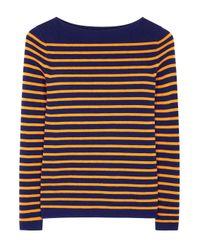 MiH Jeans | Blue Drew Striped Merino Wool Jumper | Lyst