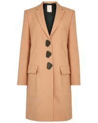 ROKSANDA - Natural Rivera Apricot Wool Coat - Lyst
