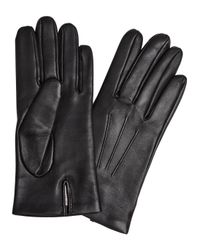 Dents | Bath Black Cashmere-lined Leather Gloves | Lyst
