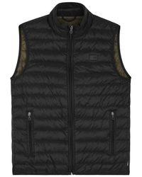 Armani Jeans | Black Quilted Shell Gilet for Men | Lyst
