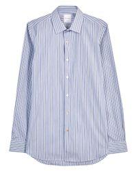 Paul Smith | Soho Blue Striped Cotton Shirt for Men | Lyst