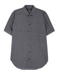 Alexander McQueen | Blue Brad Pitt Skull-print Navy Cotton Shirt for Men | Lyst