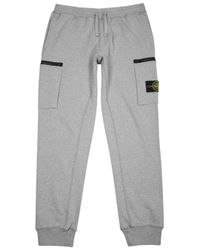 Stone Island | Gray Grey Cotton Jogging Trousers for Men | Lyst