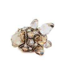 Lanvin   Metallic Cristal De Roche Gold Tone Ring   Lyst