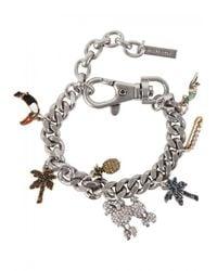 Marc Jacobs - Metallic Tropical Chain Charm Bracelet - Lyst