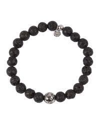 Tateossian   Black Lava Beaded Bracelet   Lyst
