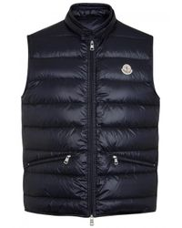 Moncler | Blue Gui Quilted Shell Gilet - Size 2 for Men | Lyst