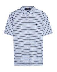 Polo Ralph Lauren | Blue Slim Striped Pima Cotton Polo Shirt for Men | Lyst