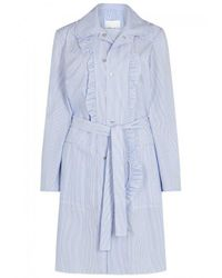 Maison Margiela - Blue Micro-striped Cotton Dress - Size 8 - Lyst