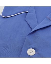 Harvie and Hudson - Classic Pacific Blue Cotton Pyjamas for Men - Lyst