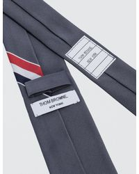 Thom Browne - Gray Classic Necktie With Rwb Engineered Stripe for Men - Lyst
