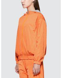 SJYP - Orange Reversible Hoodie Zip Up - Lyst