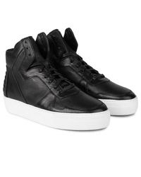 Facto - Black Neptune Calf High Top Sneakers for Men - Lyst