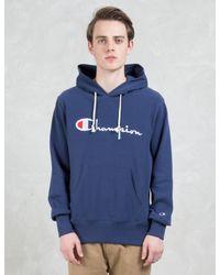 Champion - Multicolor Script Logo Hoodie for Men - Lyst