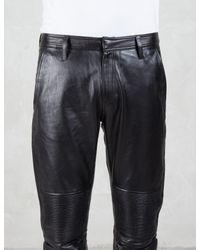 Factotum | Multicolor Knee Patch Slim Leather Pants for Men | Lyst