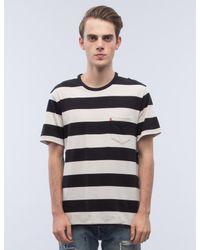 Levi's - Black Stripe Faded Sunset Pocket S/s T-shirt for Men - Lyst