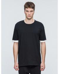 3.1 Phillip Lim | Black Double Sleeve S/s T-shirt for Men | Lyst