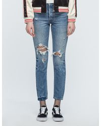 aa6ac6b9 Levi's 501 Skinny Old Hangout Jeans in Blue - Lyst