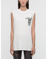 McQ - White 'bring Me The Head Of Bunny' Tank - Lyst