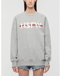 NSFW Clothing - Gray Strikethrough Sweatshirt - Lyst