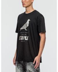 Staple - Black Foil Pigeon T-shirt for Men - Lyst
