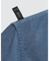 (w)taps - Blue Bud Shirt Chambray for Men - Lyst